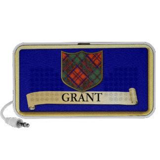 Scottish Tartan design - Grant - Personalise Travelling Speakers