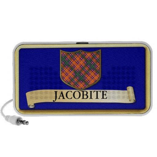 Scottish Tartan design - Jacobite - Personalise Mp3 Speaker