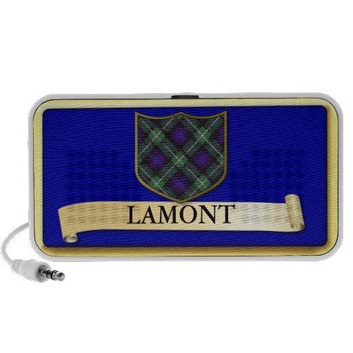 Scottish Tartan design - Lamont - Personalise Laptop Speakers