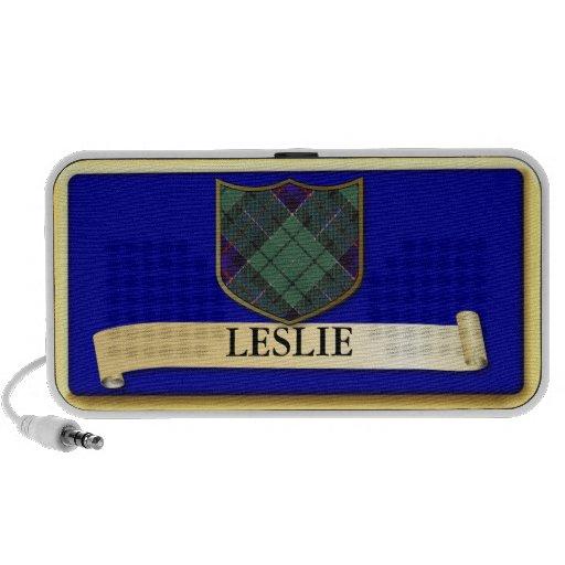Scottish Tartan design - Leslie - Personalise Notebook Speakers