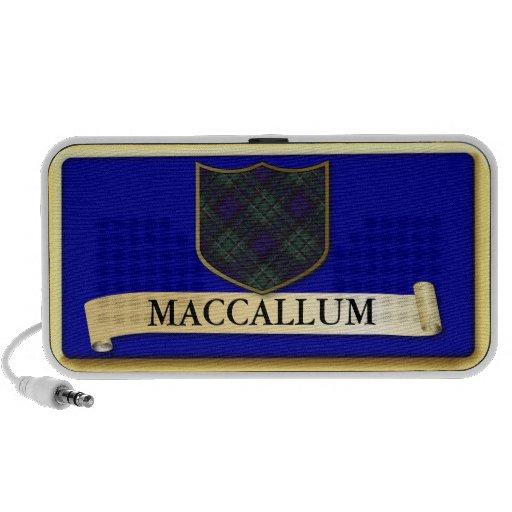 Scottish Tartan design - Maccallum - Personalise Mp3 Speaker