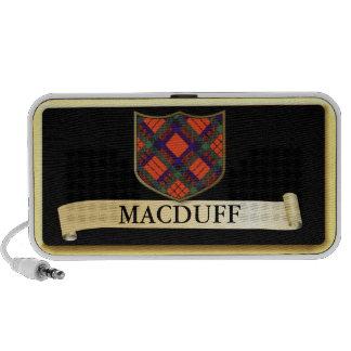 Scottish Tartan design - Macduff Personalise Mp3 Speakers