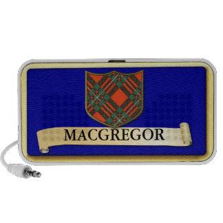 Scottish Tartan design - Macgregor - Personalise Travel Speaker