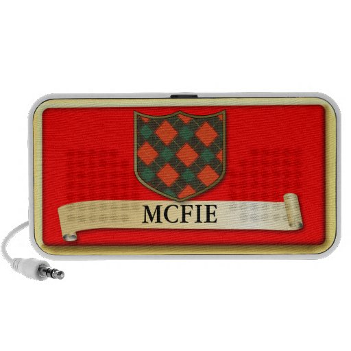 Scottish Tartan design - Mcfie - Personalise Travelling Speaker