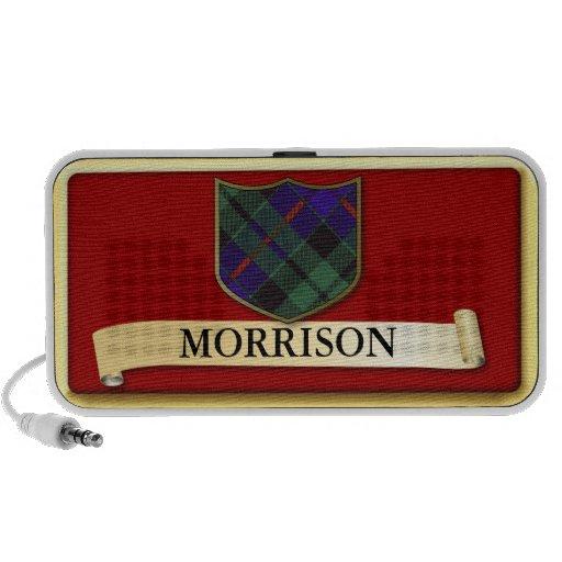 Scottish Tartan design - Morrison - Personalise Travel Speaker