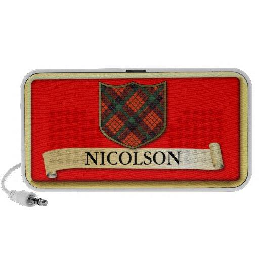 Scottish Tartan design - Nicolson - Personalise iPod Speaker