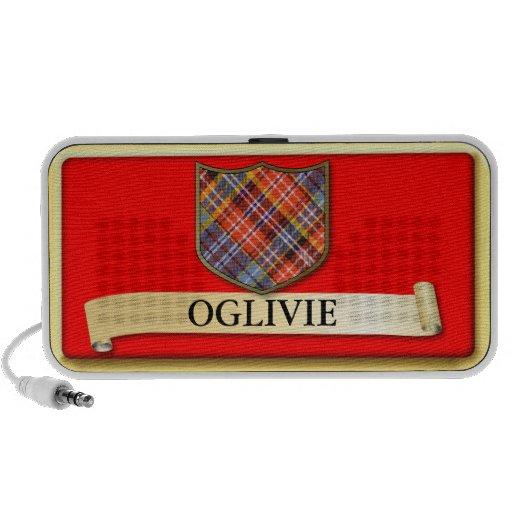 Scottish Tartan design - Ogilvie - Personalise Travel Speakers