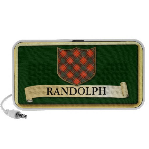 Scottish Tartan design - Randolph - Personalise Mp3 Speakers