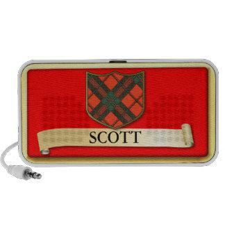 Scottish Tartan design - Scott - Personalise Travelling Speakers