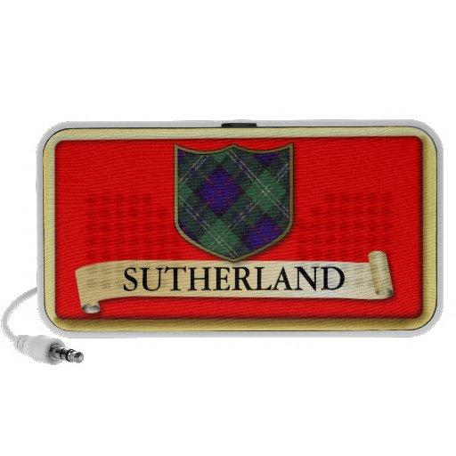 Scottish Tartan design - Sutherland - Personalise Notebook Speaker