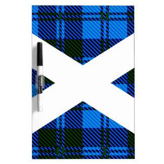 Scottish Tartan Flag Dry Erase Board