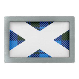 Scottish Tartan Flag Rectangular Belt Buckle