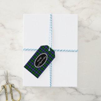 Scottish tartan gift tags