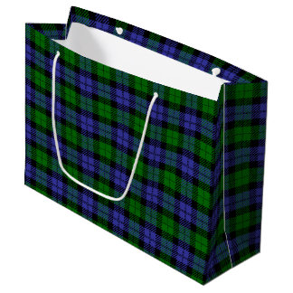 Scottish tartan large gift bag