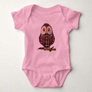 Scottish Tartan Owl Baby Tutu Bodysuit