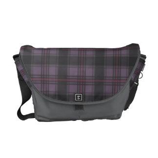 Scottish tartan plaid crimson messenger bags