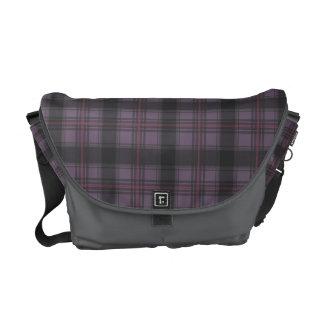 Scottish tartan plaid deep purple courier bags