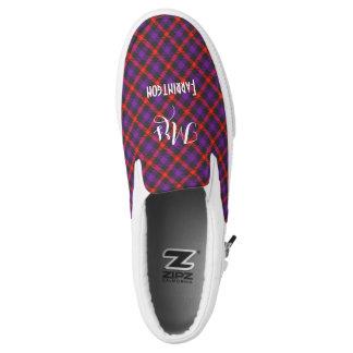 Scottish Tartan Plaid Personalized Brides Wedding Slip-On Shoes