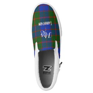 Scottish Tartan Plaid Personalized Brides Wedding Slip On Shoes