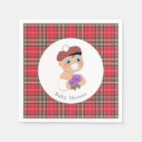 Scottish Tartan |Thistle Baby Shower Personalised