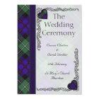 Scottish Tartan Wedding program - Mackenzie