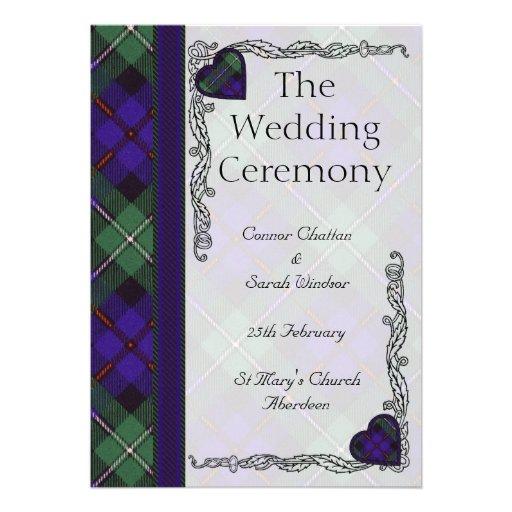 Scottish Tartan Wedding Program