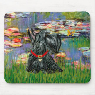 Scottish Terrier 12 - Lilies 2 Mouse Pad