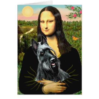 Scottish Terrier 3 - Mona Lisa Card