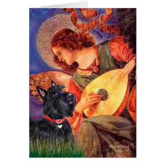 Scottish Terrier 6 - Mandolin Angel Card