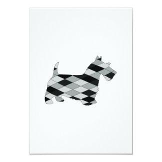 scottish terrier 9 cm x 13 cm invitation card