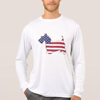 """Scottish terrier - """"american flag"""" T-Shirt"""