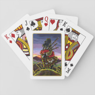 Scottish Terrier Bagpipe Dog Playing Cards Playing Cards