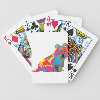 scottish terrier bicycle playing cards