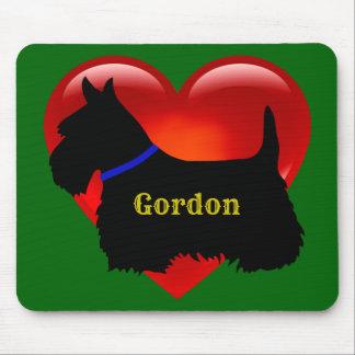 Scottish Terrier black silhouette Scotland green Mouse Pad