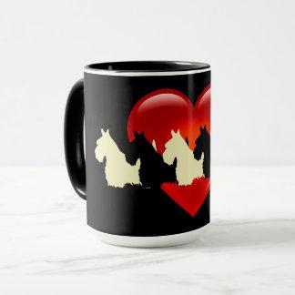 Scottish Terrier black silhouette, zazzle black Mug