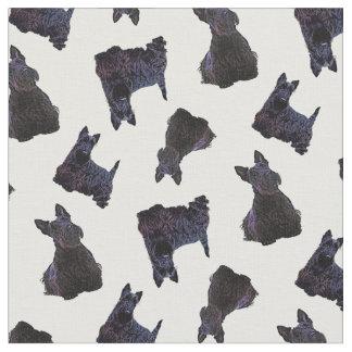Scottish Terrier black sitting/standing/zaz PNG Fabric