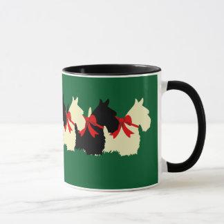 Scottish Terrier black/wheaten silhouette heart Mug