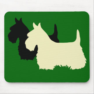 Scottish Terrier black/wheaten silhouette Mouse Pad
