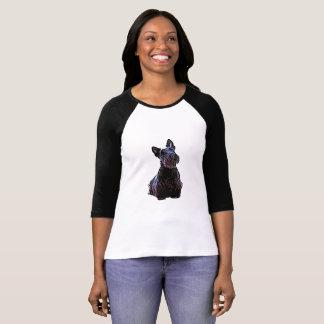 Scottish Terrier black/wheaten, sitting T-Shirt