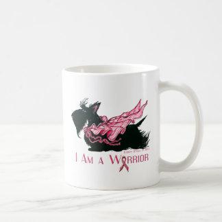 Scottish Terrier Breast Cancer Warrior Basic White Mug