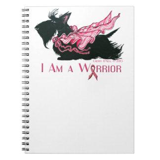 Scottish Terrier Breast Cancer Warrior Spiral Note Books
