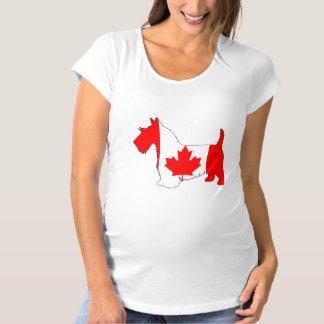 Scottish Terrier Canada Maternity T-Shirt