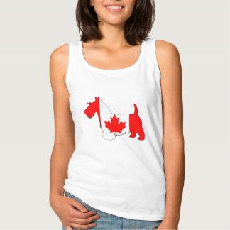 Scottish Terrier Canada Singlet