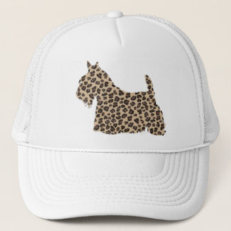 Scottish Terrier Cheetah Print Trucker Hat