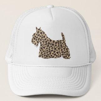 Scottish Terrier Cheetah Print Trucker Hat