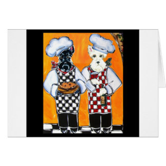 Scottish Terrier Chefs Card