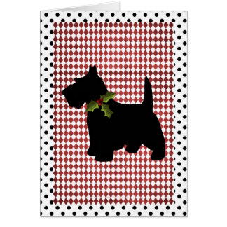 Scottish Terrier Christmas Fun Scottie Dog Custom Note Card