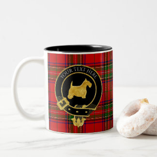 Scottish Terrier Clan Crest Tartan Two-Tone Coffee Mug