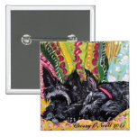 Scottish Terrier Cottage Chic Pinback Buttons