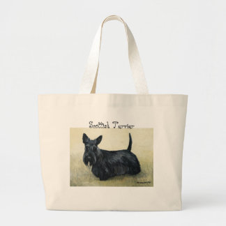 """Scottish Terrier"" Dog Art Tote Bag"